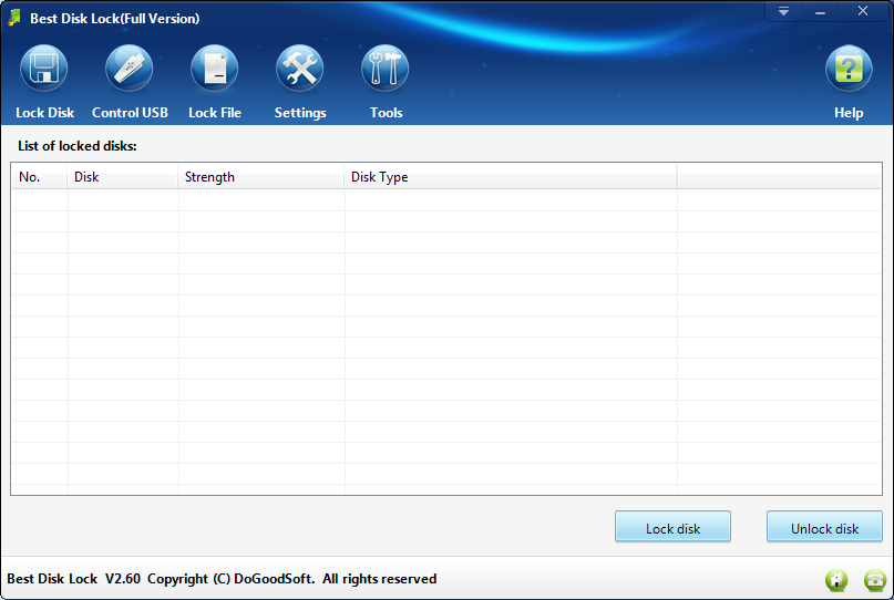 Best Disk Lock Has Been Updated to Version 2.60