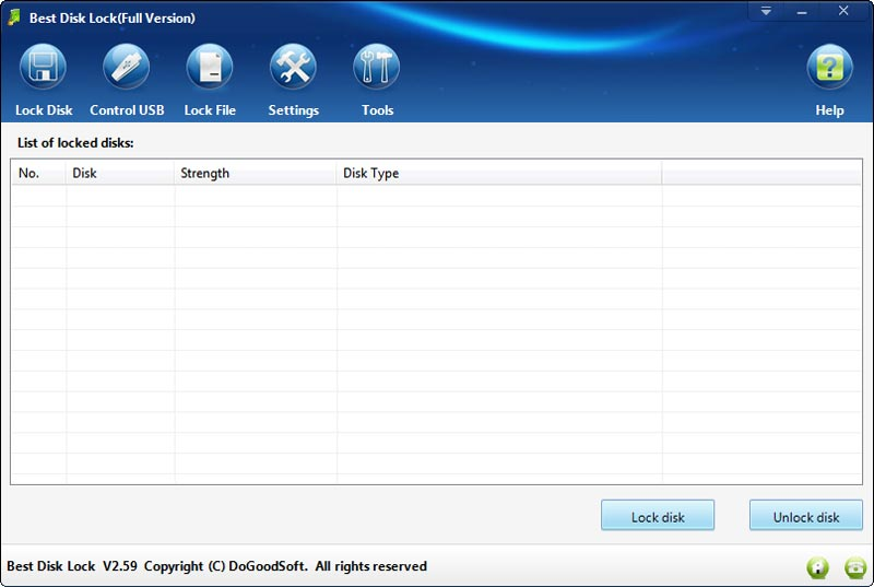 Click to view Best Disk Lock screenshots