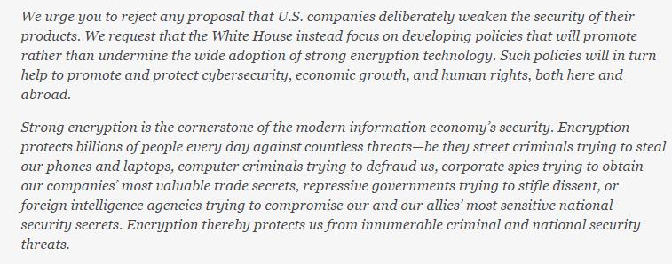 "Privacy advocates and tech giants support encryption, which the FBI director finds ""depressing"""