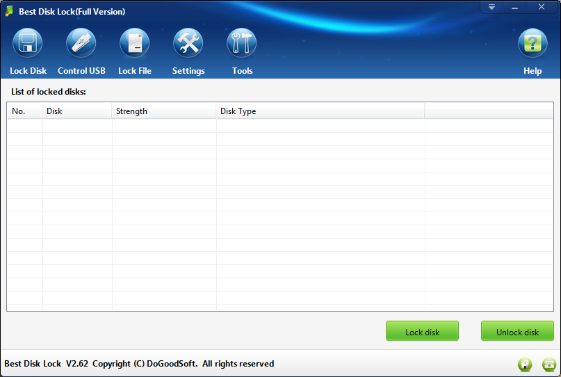 Best Disk Lock Has Been Updated to Version 2.62