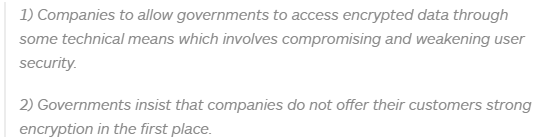 There is no 'compromise' in encryption debate between Silicon Valley and government leaders