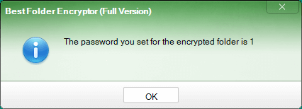 What can I do if I forget the password for my encrypted files?